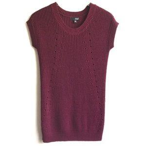 A.n.a. Maroon Chunky Knit Sweater Dress Tunic XS